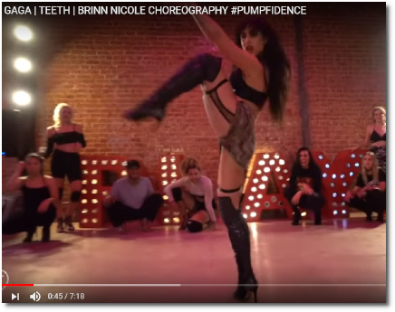 Brinn Nicole choreo of Lady Gaga's Teeth (21 Oct 2018)