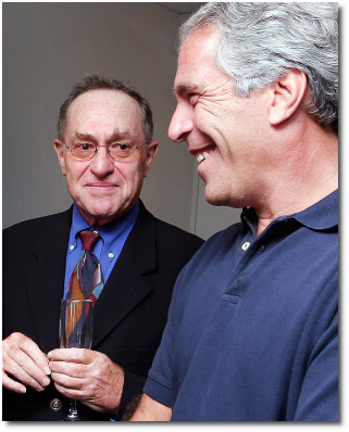 Dershowitz and Epstein at Harvard in 2004.