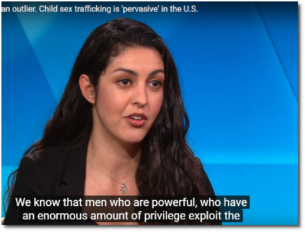 Child sex trafficking expert Yasmin Vafa of Rights4Girls says the Epstein case is no outlier. Rather child sex trafficking is pervasive here in the U.S. where powerful men exploit vulnerable girls every day. (9 July 2019)