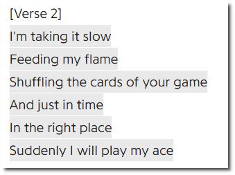 Eyes on Fire, verse 2
