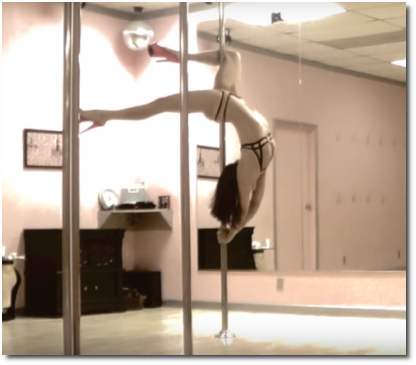 Pole dance to Eyes on Fire by Intimate Spin (Feb 2014)