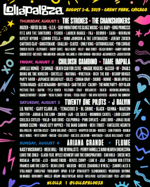 Lollapalooza 2019 line-up (August 1-4)