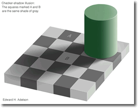 Checkerboard Shadow Optical Illusion