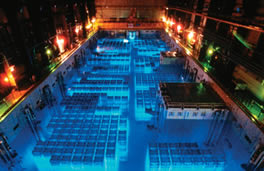Cherenkov Radiation Spent Fuel Pool