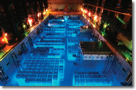 Cherenkov radiation nuclear spent fuel pools