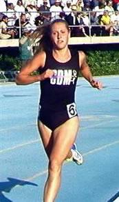 Julie Allen running a race at Corona del Mar high school