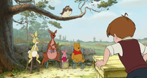 Winnie the Pooh and friends in class