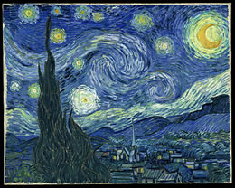 The Starry Night by Vincent vn Gogh (1889)