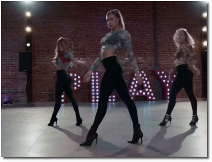The elegant strut of a dancer to the Kayla Brenda choreography to God is a Woman (23 Oct 2019)