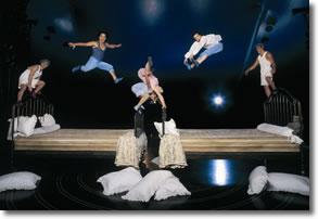 Cirque du Soleil bed jumping