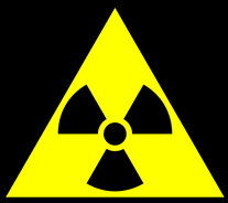 Radiation tri-blade warning symbol