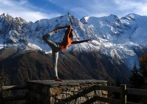 Yoga Pose Himalaya Mountains Stretching & Flexibility
