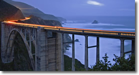 Big Sur Bridge Foggy Sunset