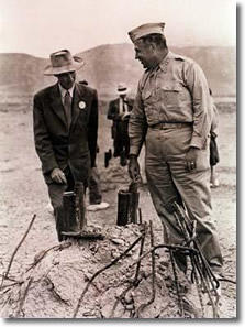 Site of the World's First Atomic Blast, July 16, 1945 | Oppenheimer & General Groves