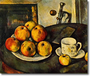 Still Life with Apples by Cézanne (1890-94)
