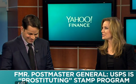 Lauren talks dirty to Aaron while whoring for cash at Yahoo Finance