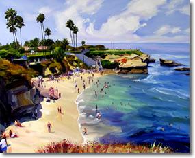 La Jolla Cove Painting