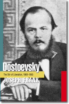 Fyodor Dostoevsky (1821-1881) on the cover of Joseph Franks biography volume #3 of 5 The Stir of Liberation