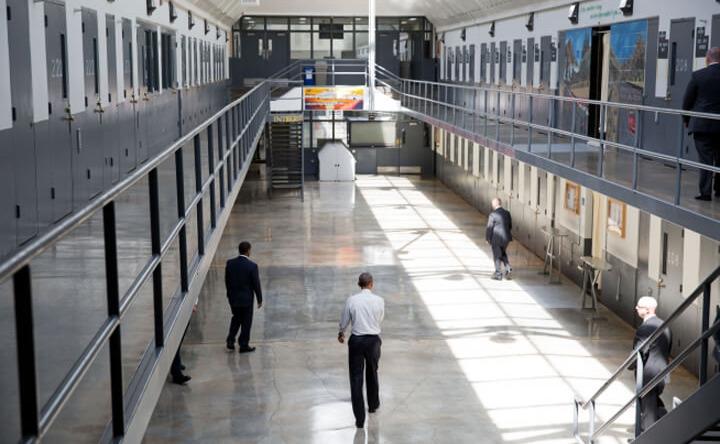 Obama at El Reno Prison in Oklahoma on July 16, 2015