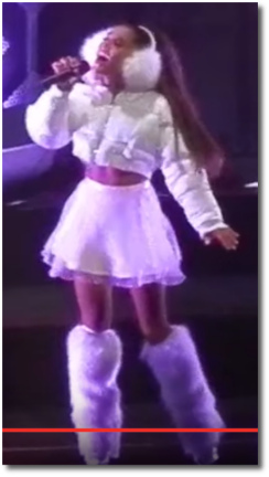 Ariana wailing in white at the Jingle Ball | Boston, Dec 11, 2016