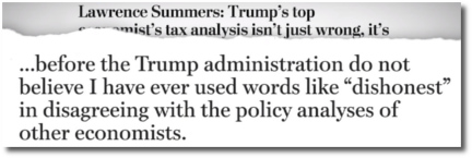 Larry Summers characterizes Trump's tax plan as dishonest