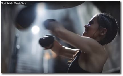 Hailee on the speed bag in Most Girls