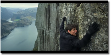Mission Impossible Fallout rock-climbing scene