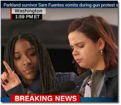 Parkland survivor Samantha Fuentes doesnt let a little vomit stop her 24 March 2018