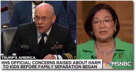 Senator Hirono of Hawaii, who sits on the Judiciary committee (31 July 2018)